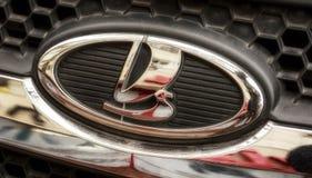 Emblema del coche de LADA foto de archivo libre de regalías