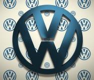 Emblema del coche de Volkswagen stock de ilustración