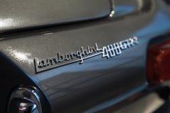 Emblema del coche deportivo de Lamborghini 400GT fotografía de archivo