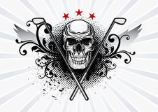 Emblema del cranio di golf Immagini Stock Libere da Diritti