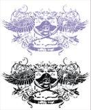Emblema del cranio di vettore Immagini Stock Libere da Diritti