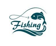 Emblema del deporte de la pesca Foto de archivo