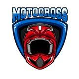 Emblema del deporte del motocrós Imágenes de archivo libres de regalías