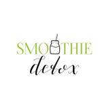Emblema del Detox del Smoothie Foto de archivo libre de regalías