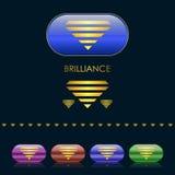 Emblema del diamante dell'oro Fotografia Stock