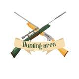 Emblema del diseño del área de la caza Stock de ilustración