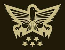 Emblema del ejército del águila Foto de archivo libre de regalías
