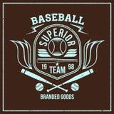 Emblema del equipo de béisbol de la universidad Imagen de archivo libre de regalías