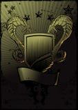 Emblema del escudo de las serpientes Imagen de archivo libre de regalías
