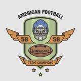 Emblema del fútbol americano Fotos de archivo libres de regalías