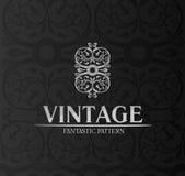 Emblema del fondo del ornamento de la escritura de la etiqueta de la decoración de la vendimia Fotos de archivo libres de regalías