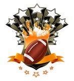 Emblema del fútbol americano Foto de archivo libre de regalías