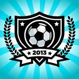 Emblema del fútbol del vector Imagen de archivo