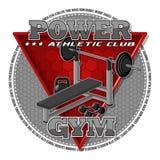 Emblema del gimnasio Fotos de archivo libres de regalías
