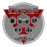 Emblema del gimnasio Fotografía de archivo libre de regalías