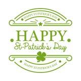 Emblema del giorno di St Patrick Fotografie Stock Libere da Diritti