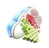 Emblema del icono de la tecnología de ordenadores de la nube Foto de archivo libre de regalías