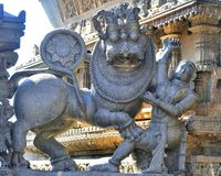 Emblema del imperio de Hoysala imagen de archivo