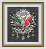 Emblema del imperio otomano, y x28; Viejo símbolo turco y x29; Fotos de archivo libres de regalías