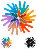 Emblema del lavoro di gruppo Fotografia Stock