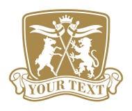 Emblema del leone e delle pecore Immagini Stock Libere da Diritti