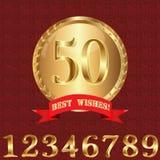 Emblema del messaggio di anniversario Fotografia Stock