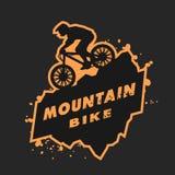 Emblema del mountain bike Fotografie Stock Libere da Diritti