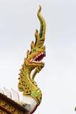 Emblema del Naga del tetto del tempio Fotografia Stock Libera da Diritti