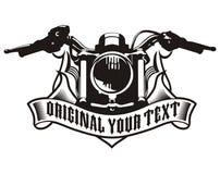 Emblema del nastro del motociclo Fotografia Stock Libera da Diritti