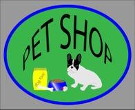 Emblema del negozio di animali Fotografia Stock