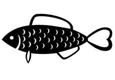 Emblema del pesce Fotografia Stock