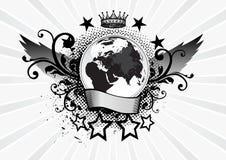 Emblema del pianeta Immagine Stock