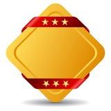Emblema del premio dell'oro Fotografia Stock Libera da Diritti
