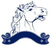 Emblema del rancho del caballo Imágenes de archivo libres de regalías