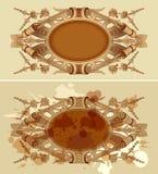 Emblema del renacimiento del diseño de la vendimia fotos de archivo