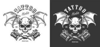 Emblema del salone del tatuaggio illustrazione di stock