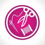 Emblema del sarto Fotografia Stock Libera da Diritti