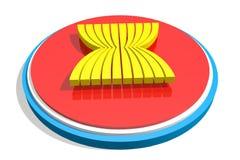 Emblema del sindacato di ASEAN Fotografia Stock