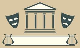 Emblema del teatro Stock de ilustración