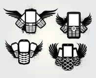 Emblema del teléfono celular de Grunge Fotos de archivo