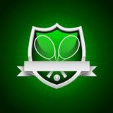 Emblema del tenis del vector Fotografía de archivo libre de regalías