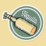 Emblema del tequila del vintage del color Imagenes de archivo