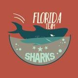 Emblema del tiburón ilustración del vector