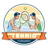 Emblema del torneo di tennis Fotografie Stock