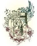 Emblema del vector Foto de archivo