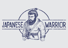 Emblema del vector con el combatiente de Japón libre illustration