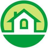 Emblema del vector de las propiedades inmobiliarias Imagen de archivo