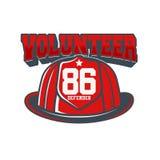 Emblema del vector de los bomberos Fotos de archivo