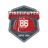 Emblema del vector de los bomberos Foto de archivo libre de regalías