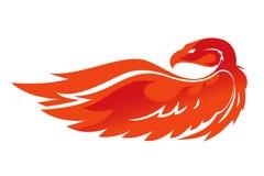 Emblema del vector de Phoenix de la llama Imagen de archivo